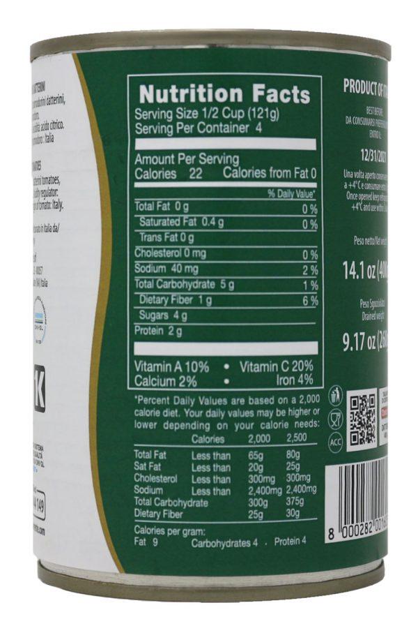 La Torrente Datterini Tomatoes Nutrition Facts