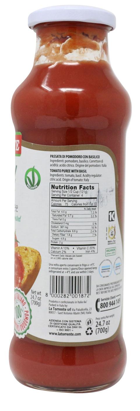 La Torrente Tomato Puree With Basil Side