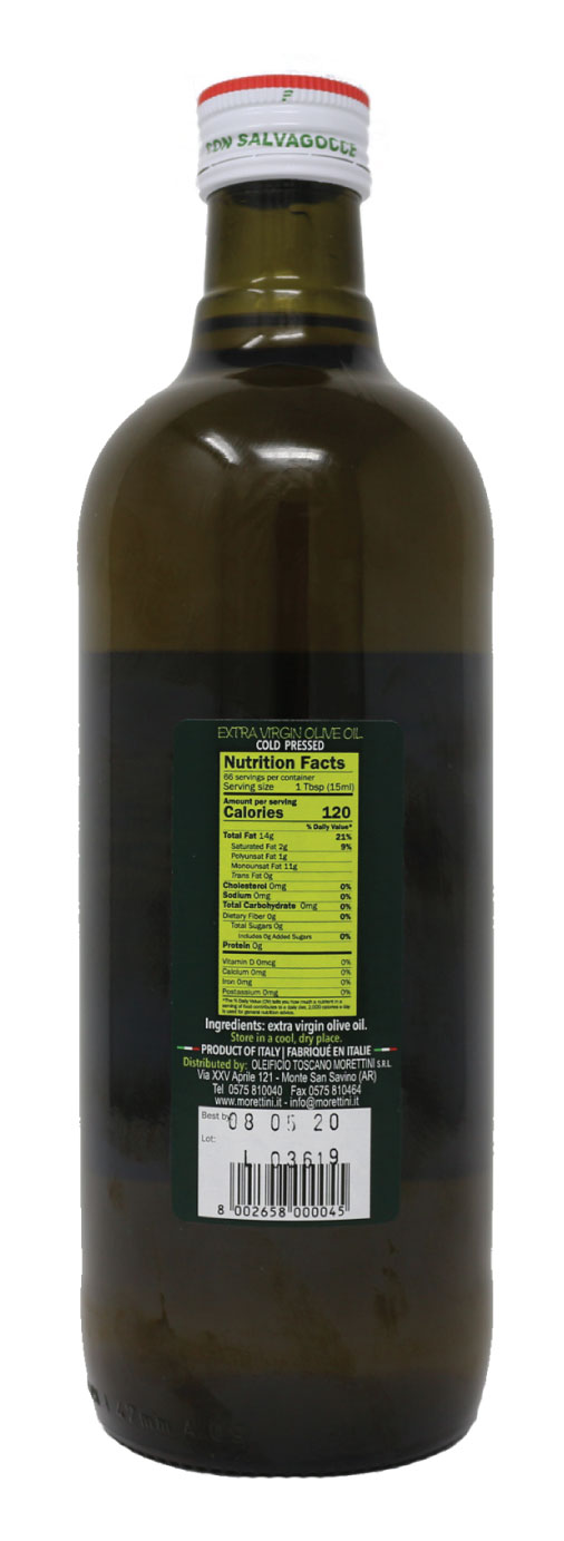 Morettini Extra Virgin Olive Oil Nutrition Facts