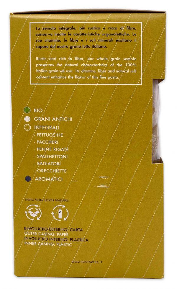 Pasta Vera Whole Wheat Organic Paccheri Rigavera_1