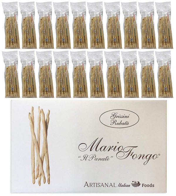 Mario Fongo Grissini Rubata Large Italian Breadsticks Front 20 Cas