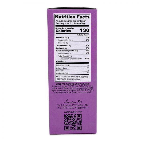 Amaretti Almond Cookies Nutrition