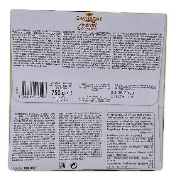 Gran Ducale Crema Panettone Vanilla Cream Filled 03