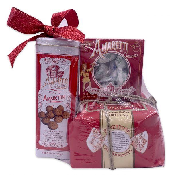 Artisanal Italian Foods Chiostro Di Saronno Amaretti Panettone Italian Gift Basket