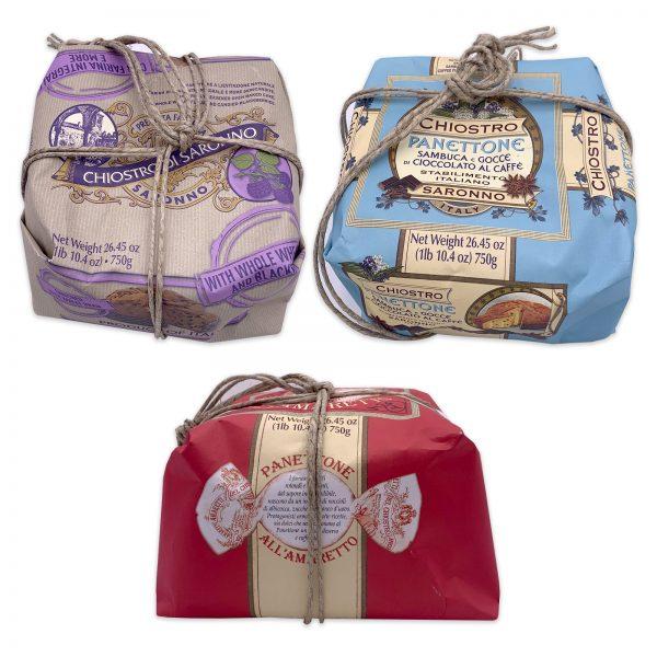 chiostro di saronno handwrapped panettone gift basket