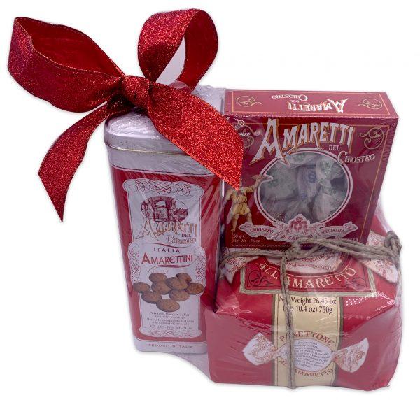 Chiostro Di Saronno Amaretti Panettone Italian Gift Basket
