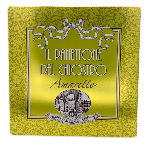 Chiostro Di Saronno Gold Ribbon Italian Panettone Amaretto Cappelliera