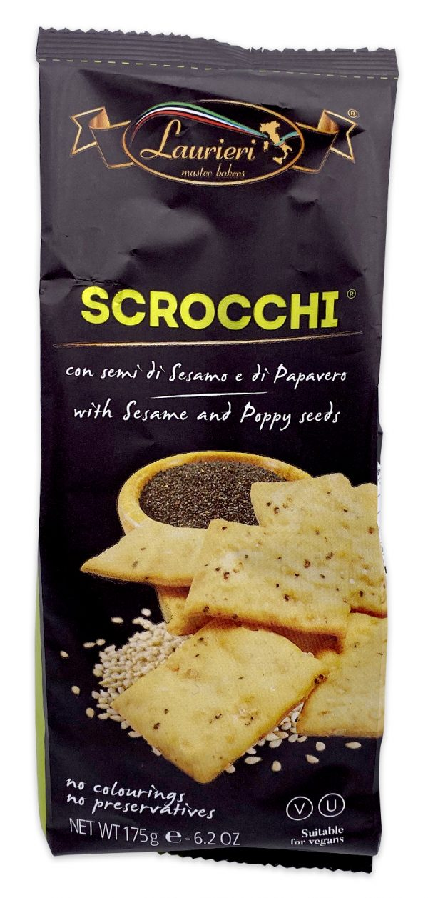 Laurieri Scrocchi Italian Sesame and Poppy Seed Crackers 03