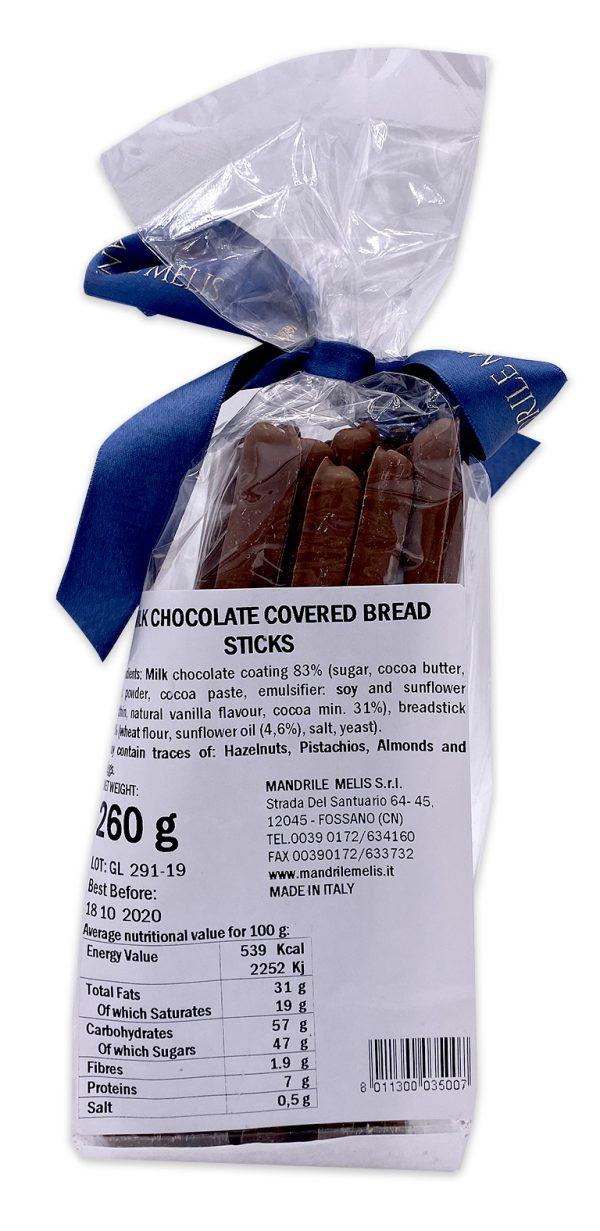 Mandrile Melis Italian Milk Chocolate Covered Breadsticks 01