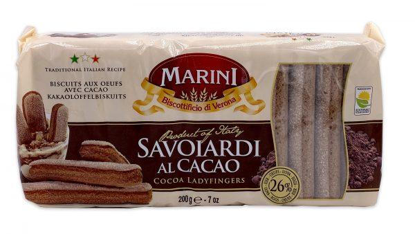Marini Chocolate Ladyfingers Savoiardi Al Cacao 01