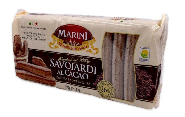 Marini Chocolate Ladyfingers Savoiardi Al Cacao 02