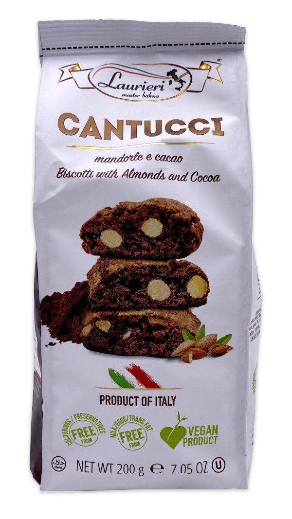 Laurieri Chocolate Almond Biscotti Cantucci Mandorle e Cacoa 01