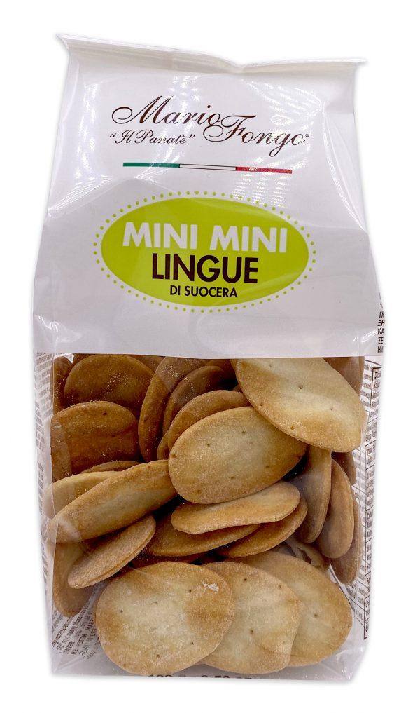 Mario Fongo Mini Mini Lingue Di Suocera Italian Flatbread Crackers 01