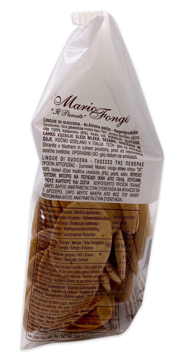 Mario Fongo Mini Mini Lingue Di Suocera Italian Flatbread Crackers 04