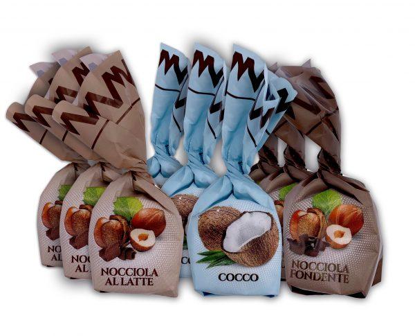 Nocciola Al Latte, Cocco Coconut, Nocciola Fondente