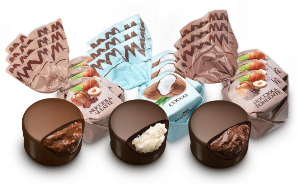Mandrile Melis Italian Praline Chocolates hazelnut coconut