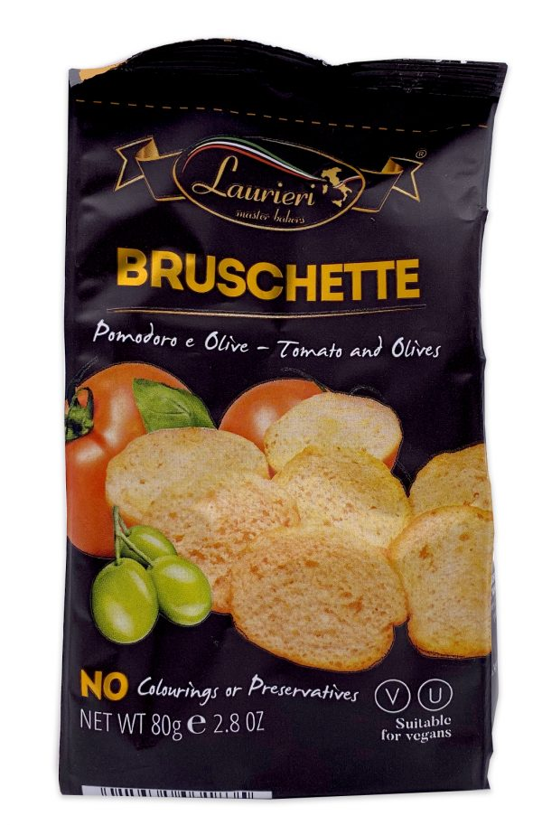 Laurieri Bruschette Tomato and Olives Crackers 80g 01