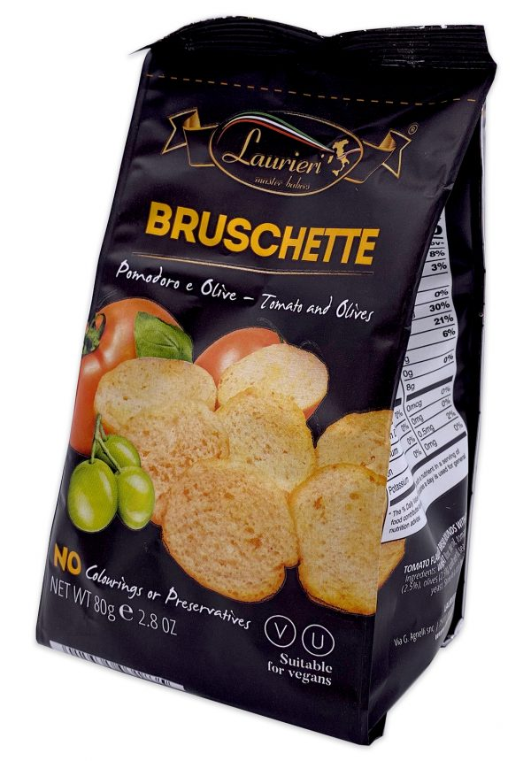 Laurieri Bruschette Tomato and Olives Crackers 80g 02