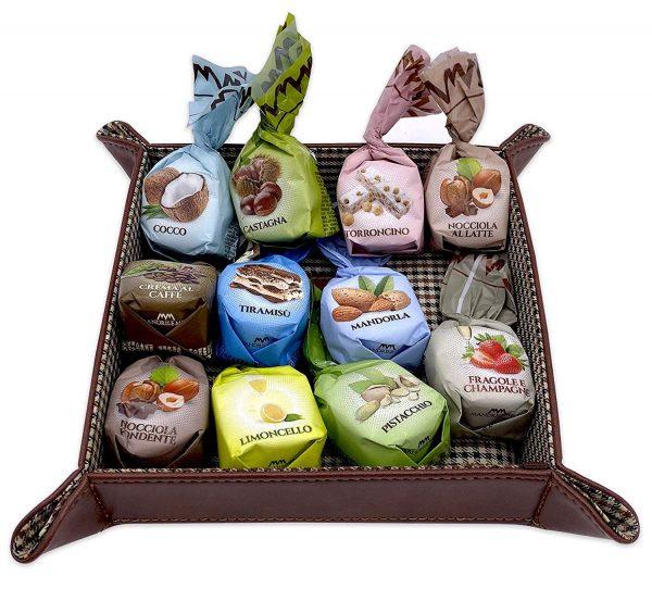 Mandrile Melis Imported Italian Chocolates Praline Variety - Milk & Dark Chocolate Hazelnut, Tiramisu, Coconut, Coffee, Torrone, Limoncello, Pistacchio 2