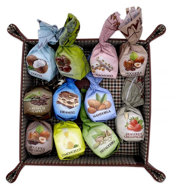 Mandrile Melis Imported Italian Chocolates Praline Variety - Milk & Dark Chocolate Hazelnut, Tiramisu, Coconut, Coffee, Torrone, Limoncello, Pistacchio