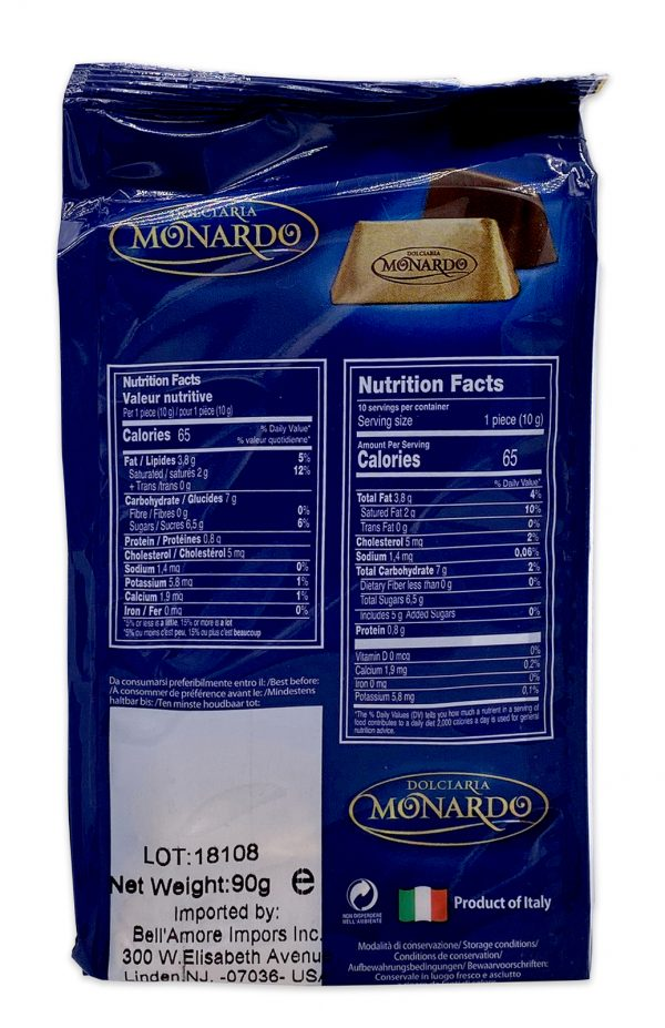 Monardo Gianduiotti Italian Hazelnut Chocolate 90g 03