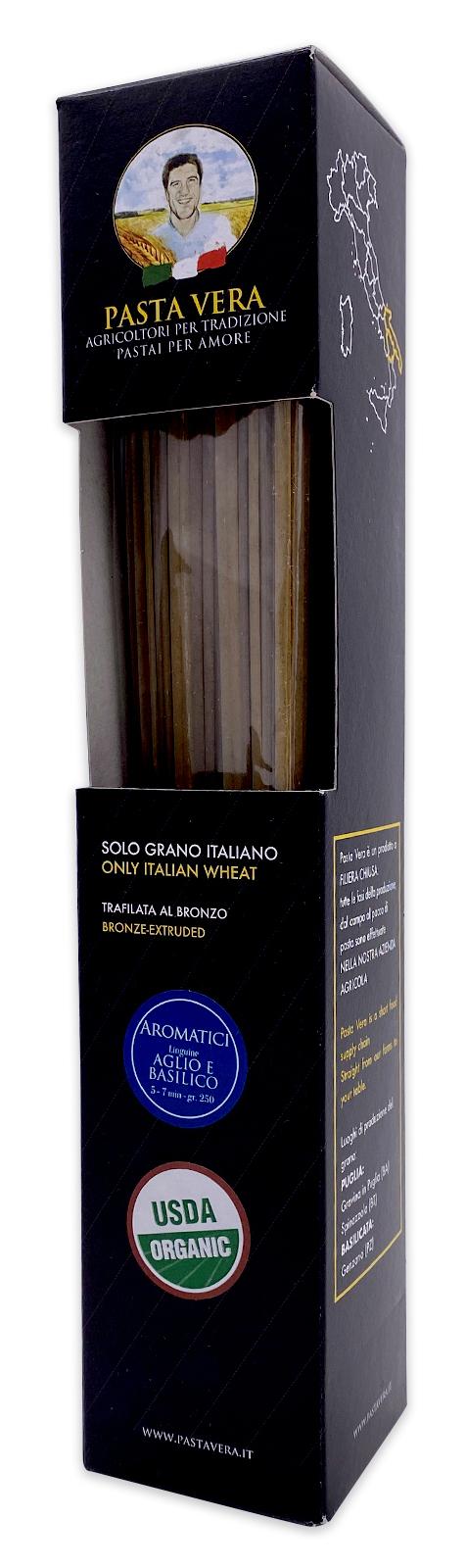Pasta Vera Italian Organic Aglio e Basilico Garlic Basil Linguine 02
