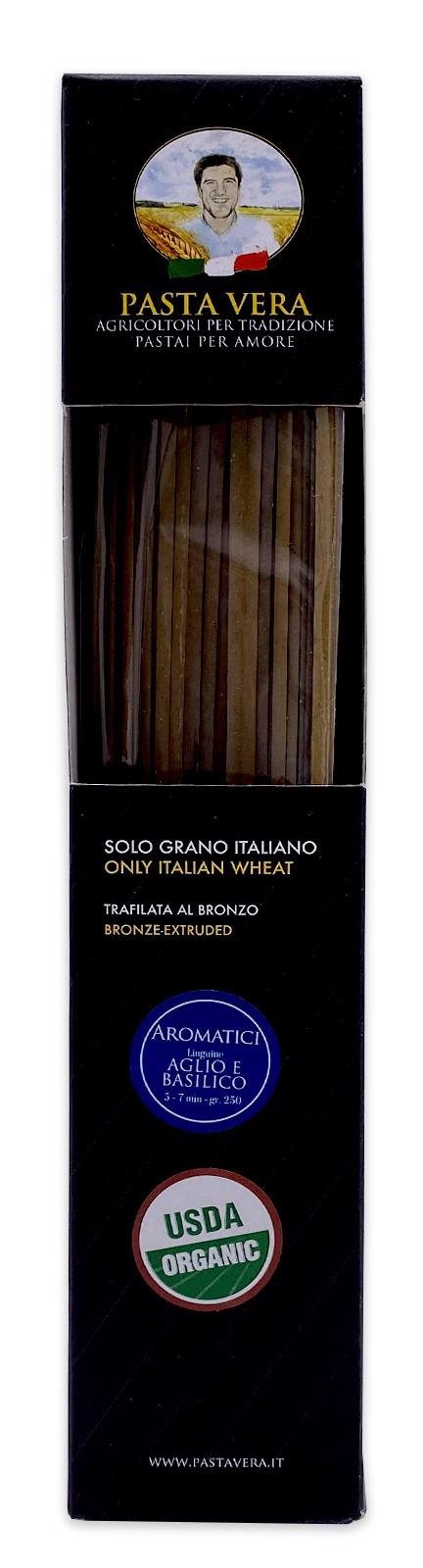 Pasta Vera Italian Organic Aglio e Basilico Garlic Basil Linguine 03
