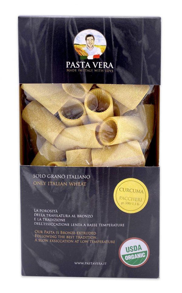Pasta Vera Italian Organic Curcuma Paccheri Rigavera Turmeric Pasta 03