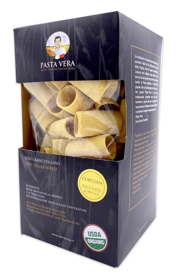 Pasta Vera Italian Organic Curcuma Paccheri Rigavera Turmeric Pasta 04