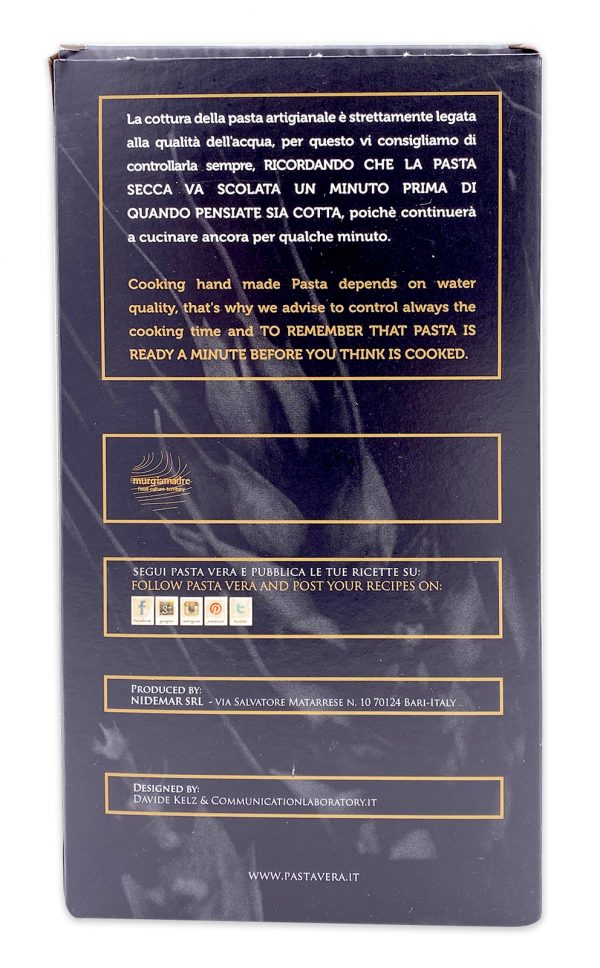 Pasta Vera Italian Organic Curcuma Paccheri Rigavera Turmeric Pasta 05