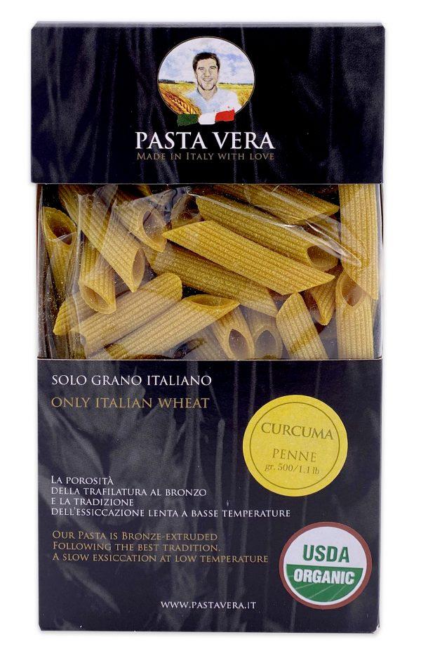 Pasta Vera Italian Organic Curcuma Penne Turmeric Pasta 03