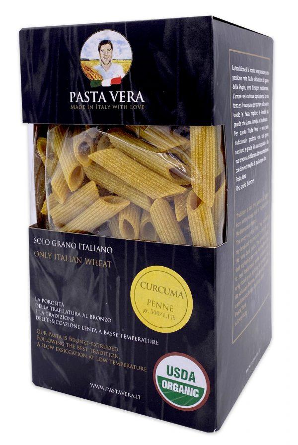 Pasta Vera Italian Organic Curcuma Penne Turmeric Pasta 05