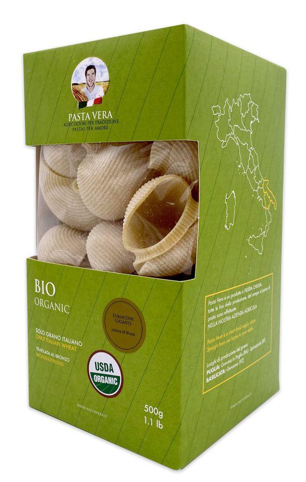 Pasta Vera Italian Organic Lumaconi Giganti Conchiglioni 02