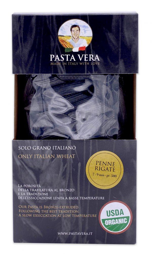 Pasta Vera Italian Organic Squid Ink Penne Rigate 03
