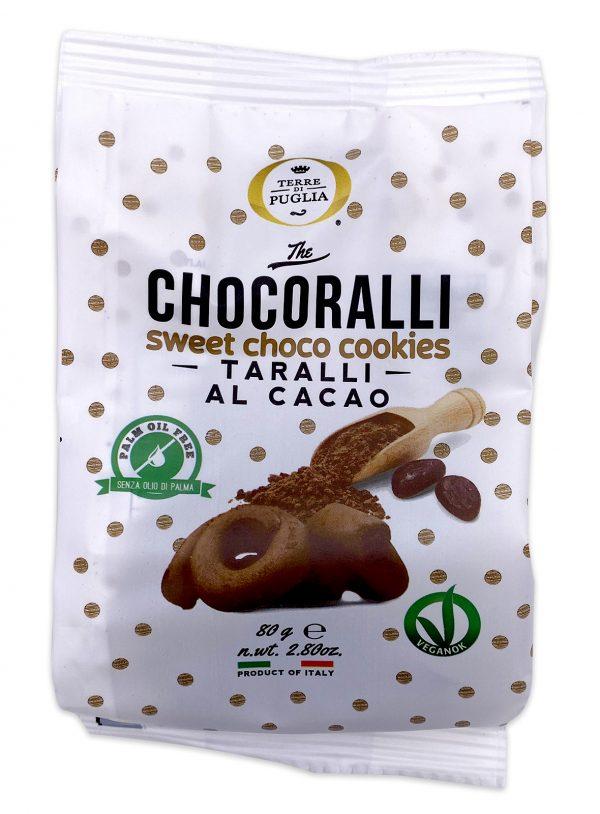 Terre di Puglia Chocoralli Chocolate Taralli al Cacao 80g 01