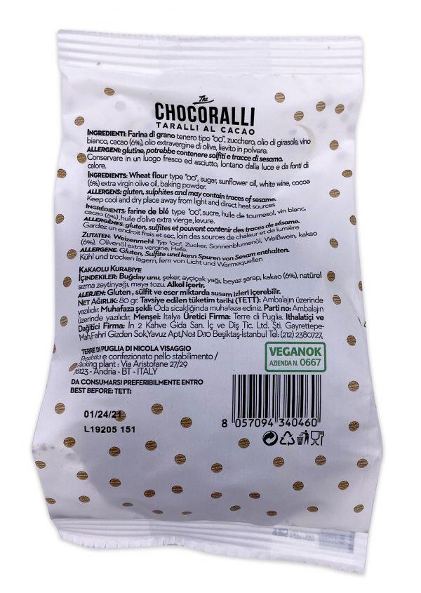 Terre di Puglia Chocoralli Chocolate Taralli al Cacao 80g 02